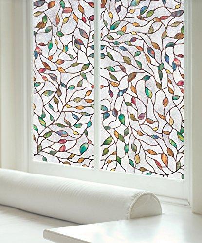 ARTSCAPE Fensterfolie, 61x92cm, geätzt, Blatt-Design, transparent/ Mehrfarbig