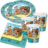 Carpeta 36 TLG. PIRATENJUNGE Pit Planke - Set: Pappteller + Servietten + Pappbecher + 25 Luftballons für Kindergeburtstag | Teller Becher Party Deko Kinder Geburtstag Mottoparty Pirat Piraten
