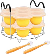 Pressure Cooker Accessories with Silicone Egg Bites Molds and Steamer Rack Trivet with Heat Resistant Handles Compatible w...
