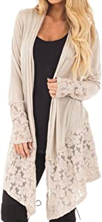 Cardigans for Womens, FORUU Fashion Lace Long Sleeve Casual Coat Open Front