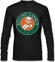 French Open Tennis Logo Men's Long Sleeve T-Shirt Black