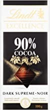Lindt Excellence 90% Dark Supreme Chocolate Bar 100g - Pack of 6