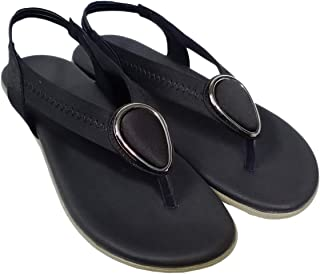saanvishubh Latest Flat Synthetic Leather Sandals for Girls and Women Stylish