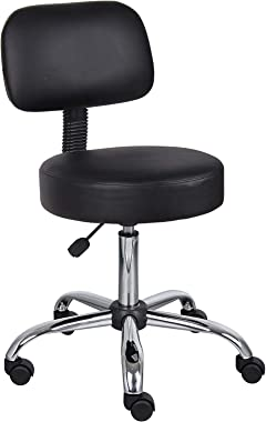 nanningshixiaodunshipinjingyingbu Well Medical Spa Stool with Back in Black