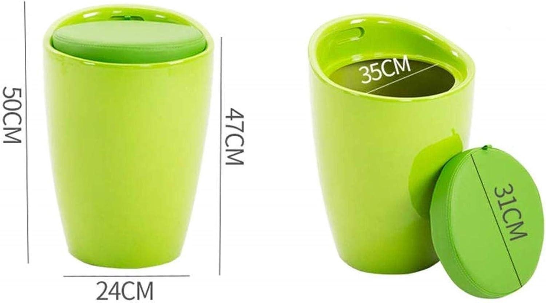 JT- Stockage en Plastique de Stockage Tabouret Deckelspeicherfaß Can Tabouret-Chaussures ABS sièges Chaise Tambour Durable (Color : B) G