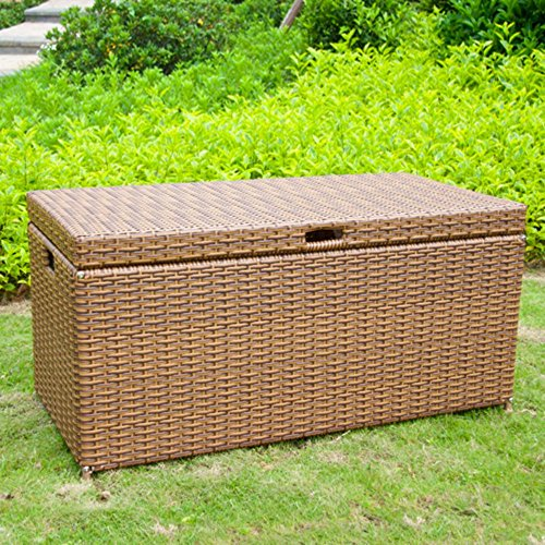 Big Sale Jeco Outdoor Wicker Patio Furniture Storage Deck Box