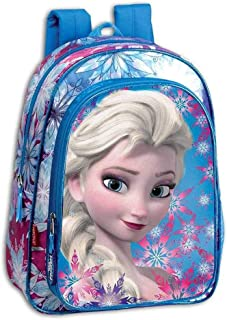 52383 Mochila Infantil Frozen Crystal, Azul/Rosa, Único