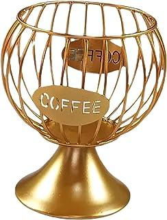 Baoblaze Support de Rangement pour Dosettes de Café Vintage Panier de Rangement pour Café Porte-dosettes Multiples Porte-E...