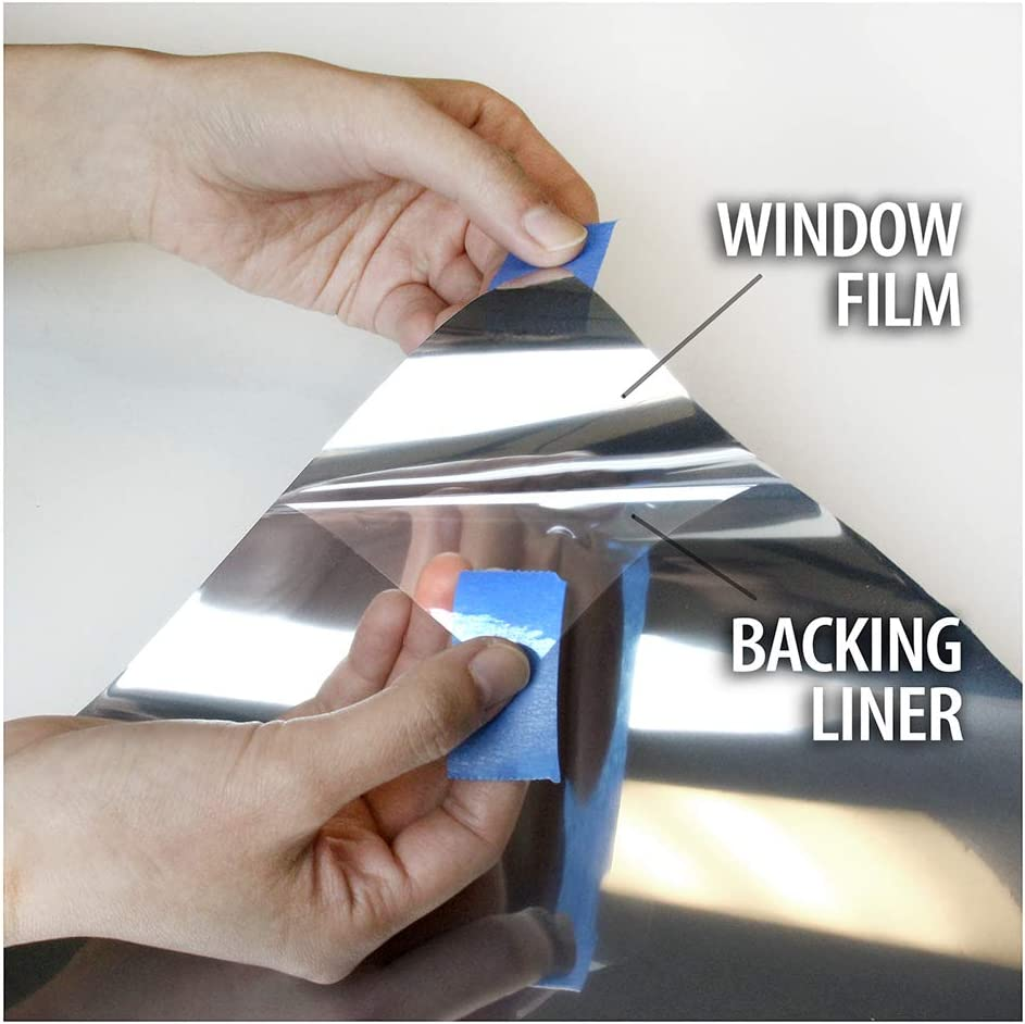 24in X 24ft Medium BDF S35 Window Film High Heat Rejection Reflective Silver 35