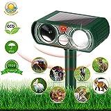 HOPSEM Cat Repellent Ultrasonic Animal Repeller Solar Powered Waterproof Cat Scarer Pest Repeller Motion...