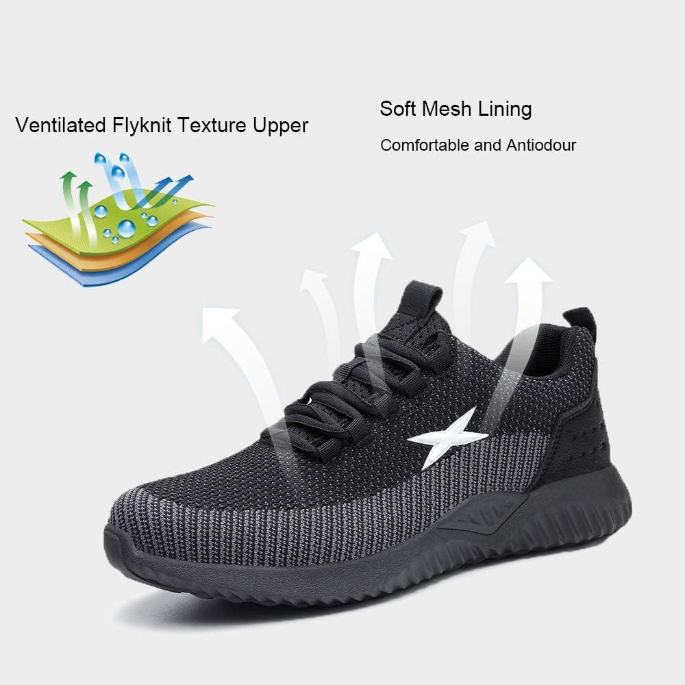 Chaussures de S/écurit/é Chaussure de Travail avec Embout de Protection en Acier Protection Baskets Chantiers et Industrie Homme Femme