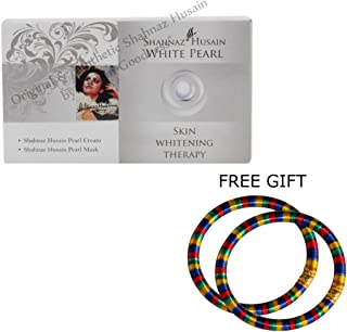 Shahnaz Husain White Pearl Kit - 20g - with FREE GIFT (Pair of Multicolor Bangles)