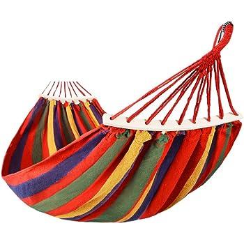 PIAOLIANG antisdrucciolo in legno massello curvo bastone amaca doppia amaca per il tempo libero amaca in legno amaca amaca altalena per esterni
