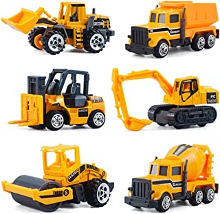 CORPER TOYS ミニカー 6台セット 建設工事作業車両 はたらく車 車おもちゃ モデルカー 建設現場コレクション