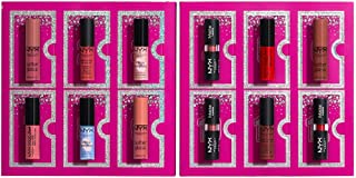 NYX PROFESSIONAL MAKEUP Diamonds & Ice 12 Day Lipstick Countdown Advent Calendar