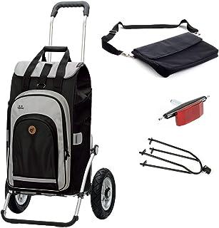 2 in 1 tragbare Faltbare Einkaufswagen Multifunktions-Teleskop-Aufbewahrungstasche mit Rad DirkFigge Einkaufstasche