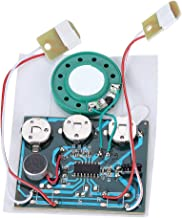 Zerone Voice Module, 30s Recordable Music Sound Voice Module Chip 0.5W with Button Battery (Wired Double Button Control)