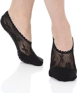 Lace Pilates Non Skid Grip Socks for Women,Yoga, Barre