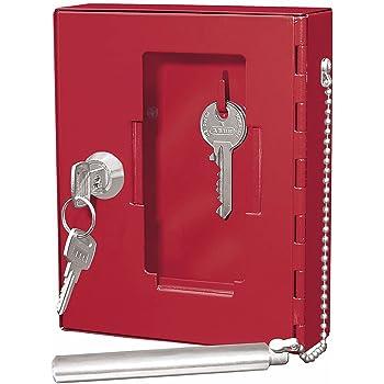 Wedo - Caja de pared para llaves de emergencia (puerta con cristal, varilla de acero, cristal de repuesto), color rojo: Amazon.es: Oficina y papelería