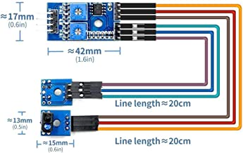2-Way Tracking Sensor Module Black and White line photoelectric Detection TCRT5000 Tracking Smart car Dedicated