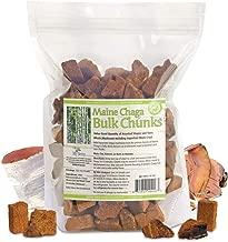 Maine Chaga Bulk Chunks, 15oz. Bulk Value Pricing, Hand-Cut, Assorted Sizes & Shapes