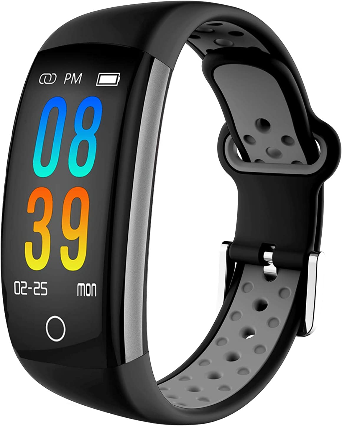 IP68 Fitness Tracker Blood Pressure Heat Rate Monitor Smart Watch Blood Oxygen Sleep Monitor Activity Tracker Pedometer Watch for Women Men