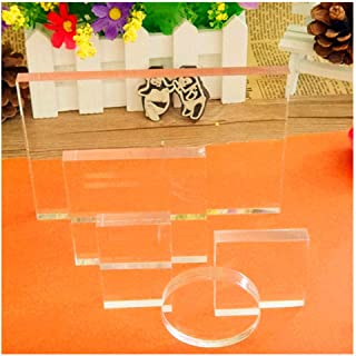 Clear Acrylic Blocks Set 5 PCS for Stamp Card Making