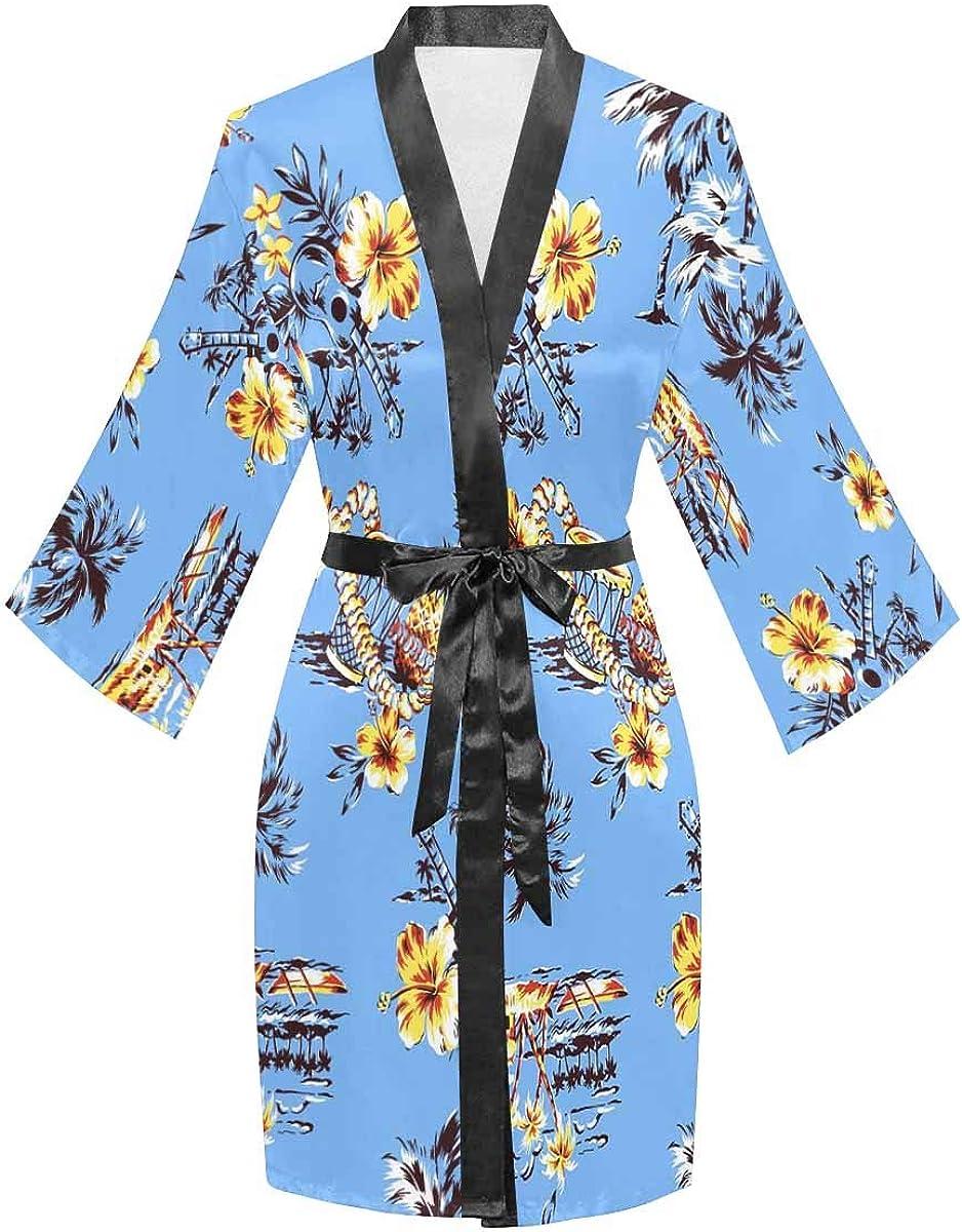 InterestPrint Women's Long Safety and trust Sleeve Lightweight Robe Arlington Mall Bathro Kimono