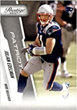 Julian Edelman 2010 Prestige NFL Football Mint Rookie Card Picturing This New England Patriots Star in His Blue Jersey 115 Julian Edelman M (Mint)