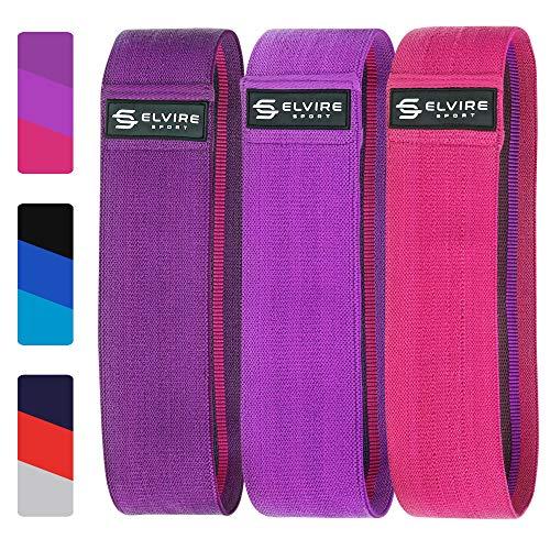 ELVIRE SPORT Widerstandsbänder Set (3er Pack): Fitnessbänder Widerstandsbänder für Hüften, Gesäß und Beine | Resistance Bands fur Yoga, Pilates, Crossfit, Physiotherapie | Männer und Frauen