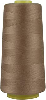 RCL 100% Polyester Sewing Thread Spools - 3000 Yards/1 Spool of Yarn, 40/2 All-Purpose Connecting Threads for Sewing Machine and Hand Repair Works (Dark Khaki)