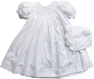 girls white smocked dress