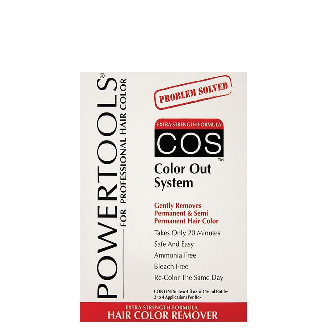 デコレーション遅滞ディスパッチPower Tools PowerToolsのCOS色アウトシステムキットパーマネントヘアカラーリムーバー4オンスのHC-32717