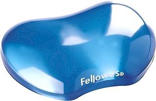 Fellowes Gel Crystals - Reposamuñecas Flexible, Azul