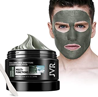 Clay Mask Deep Pure Conditioning Cleansing Mud Mask with Volcanic Mud For Face,Body, Large Pores, Acne, Oily Skin & Blackheads 4.95oz