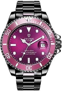 Men 30M Waterproof Multifunctional Lightweight Nylon Stainless Steel Wrist Watch Mechanical Watch for
