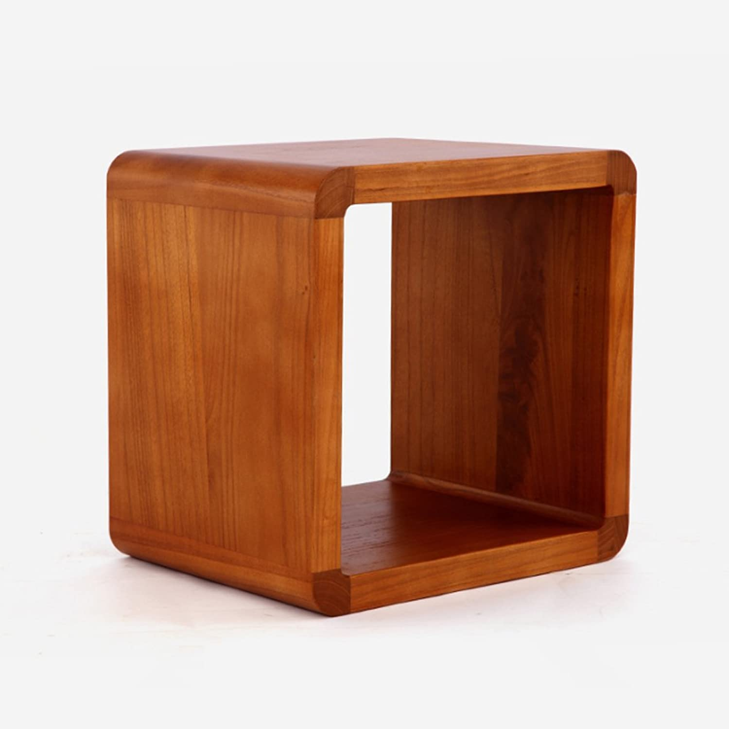 Japanese-Style Solid Wood Small Square Stool, shoes Bench Stool Coffee Table Stool Flower Stand Bench Stool Chair (color   L-40  32  40CM)