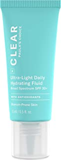 Paula's Choice CLEAR Ultra-Light Hydrating Oil Free Moisturizer SPF 30, UVA & UVB Protection, Pore Minimizer Sunscreen for Face, 15 ml