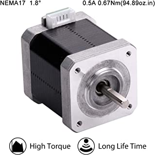 MOONS' NEMA17 Stepper Motor 3D Printer 0.67Nm(95oz-in)0.5A2Phase 1.8 Degree Bipolar Stepping Motor 48.3mm(1.9in.) 2Stack Smooth Silent Step Motor (Model MS17HD6P4050)