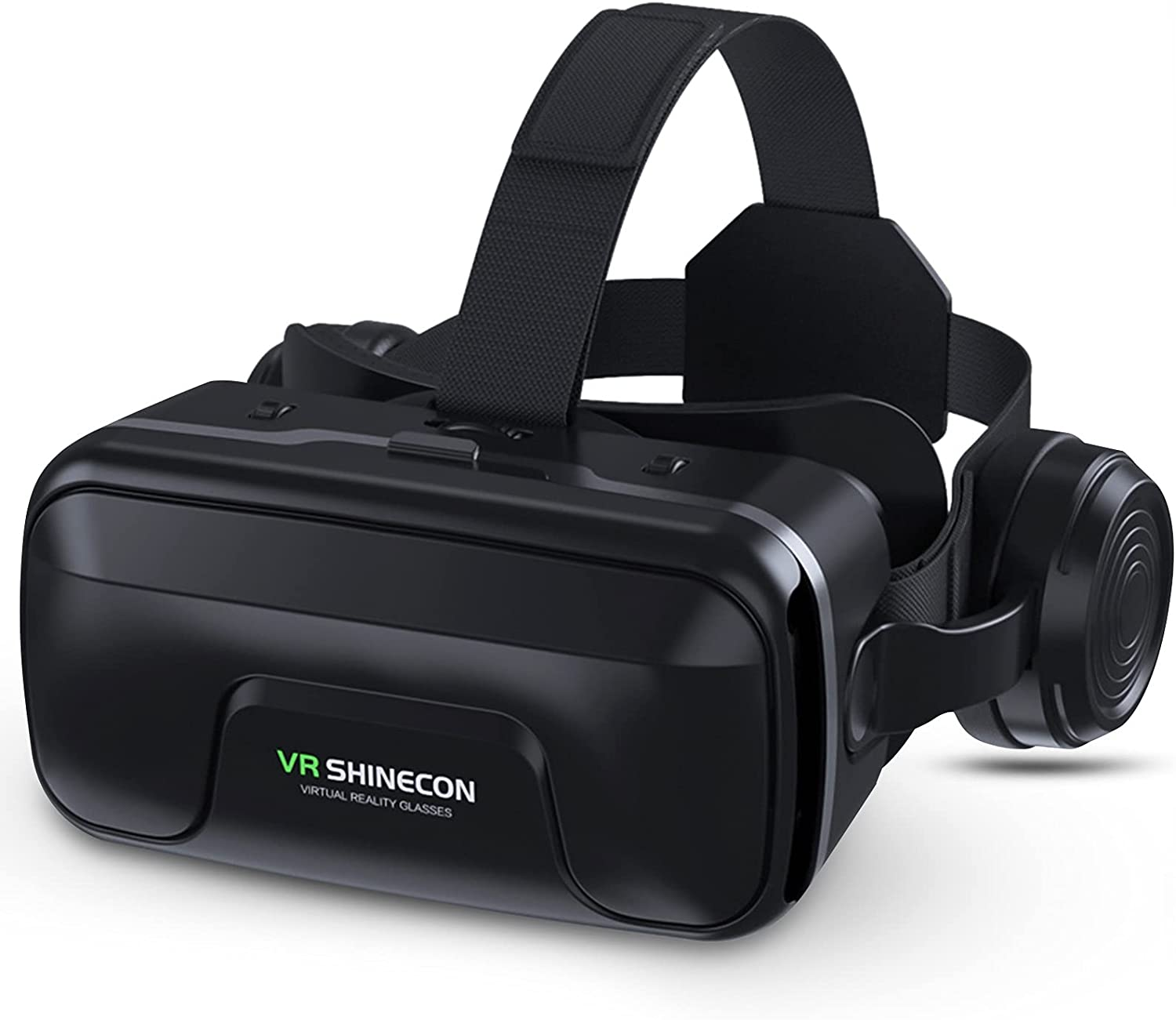 VR Headset, Virtual Reality Headset for 4.7-6.5 Inch iPhone Android Smartphones, 3D VR Goggles Glasses, 120° FOV Eye Protection Comfortable, with Stereo Headphones