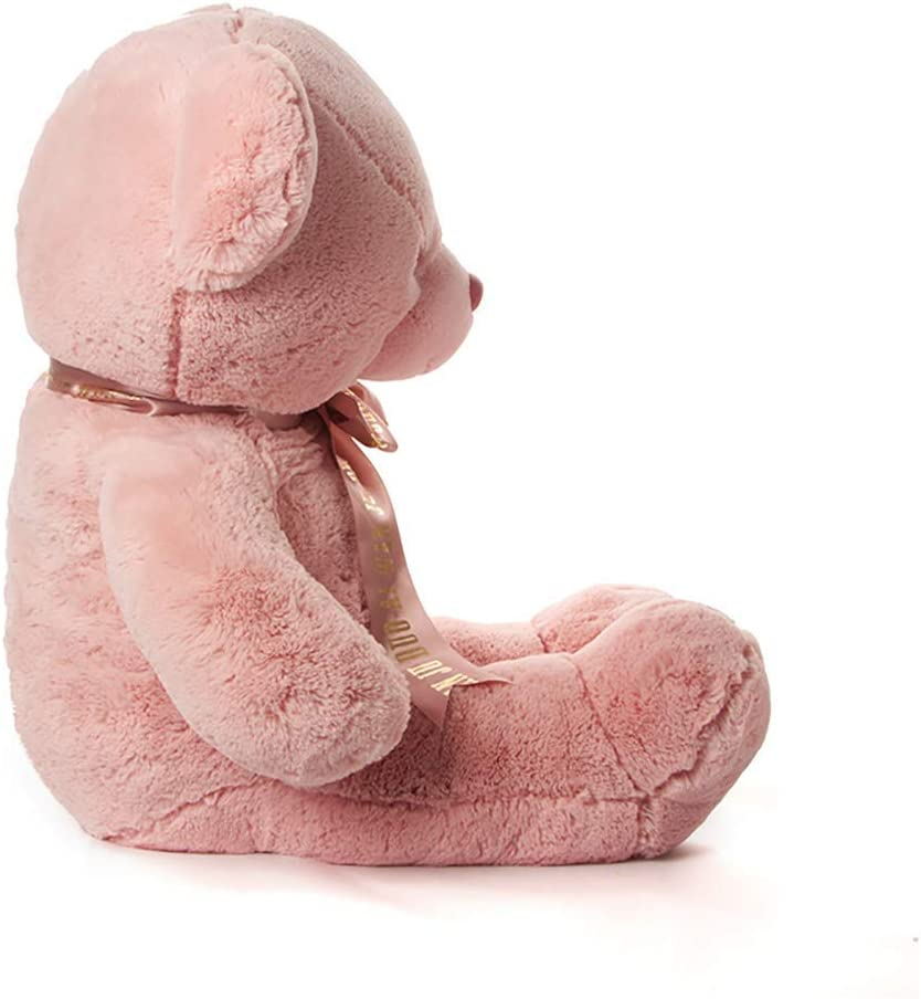 ZJHCC Pluche teddybeer kinderen zacht speelgoed teddybeer gevuld dier zacht speelgoed PP katoen vulling kind poppen kleur keuze 21,6 inch roze