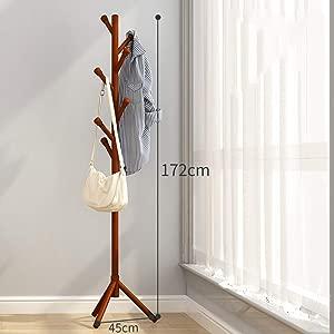 Floor Coat Rack Bedroom Hanger Solid Wood Simple Office Floor Hanger 11