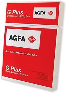 AGFA RADIOMAT PCG2430 X-Ray Film, Full Speed, 24 cm x 30 cm, Green Sensitive (Pack of 100)