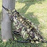 Heyeasy Hamaca asiento de camuflaje silla de caza ligera y portátil silla de camping se cuelga en cualquier árbol (camuflaje)