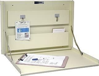 Omnimed 291502-BG Wall Desk with Built-in Storage, Beige
