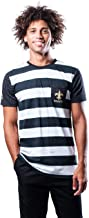Ultra Game Men's Short Sleeve Stripe T-Shirt with Pocket