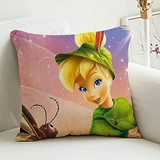 DISNEY COLLECTION Decorative Throw Pillow Decorative Throw Pillow Tinkerbell Wallpaper for Desktop 18 X 18 Inch