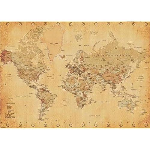 Large World Map Poster: Amazon.com