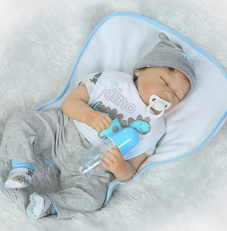 ZIYIUI Reborn Baby DoII 22inch 55cm Sleeping Real Silicone Vinyl Dolls Reborn Baby Doll Handmade Baby Doll Best Gifts