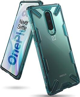 جراب شفاف من رينجكي مقاوم للصدمات لهاتف ون بلس 8 (Oneplus 8)- اخضر تركواز